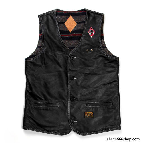 Leather Reversible Work Vest