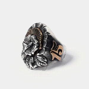 13th Years Flower Silver Ring