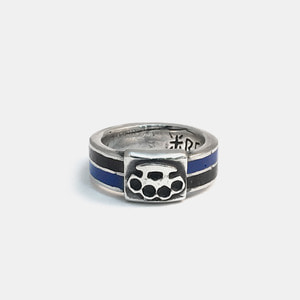 Brass Knuckle Enamel Ring