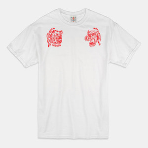 [예약할인] Angry Animals T-Shirts white/red