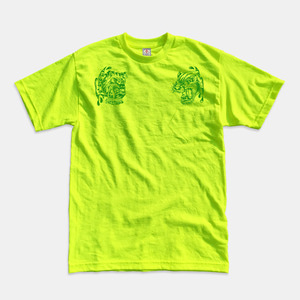 [예약할인] Angry Animals T-Shirts safety green