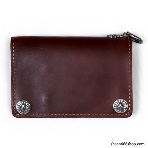 575 Leather Wallet #045 Horse Strips Special brown