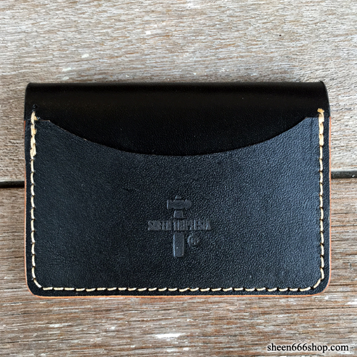 575 #048 LTD Card Holder Cow Leather black/black
