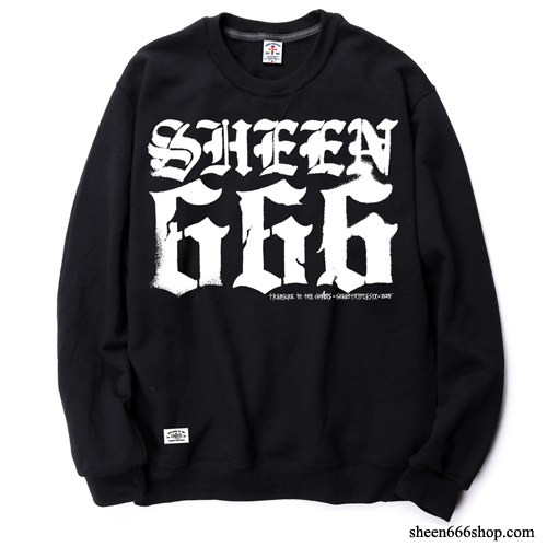 Script Crewneck Sweat Shirts black