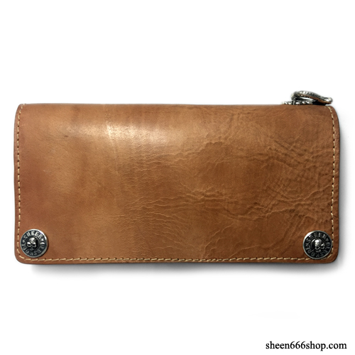 575 Leather Wallet #065 LT Horse Strips Special natural