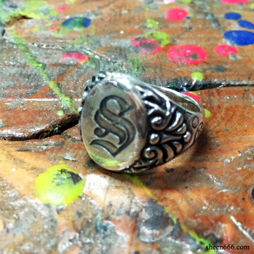 "Initial Signet Ring ""S"""